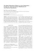 The mesh disturbance effects in a low-temperature cascade arc torch for surface modification of low density polyethylene.