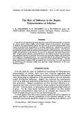 The role of diffusion in the Ziegler polymerization of ethylene.