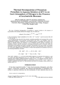 Thermal decomposition of potassium persulfate in aqueous solution at 50░C in an inert atmosphere of nitrogen in the presence of acrylonitrile monomer.