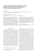 Thermal stability of polyoxymethylene and its blends with poly(ethylene-methylacrylate) or poly(styrene-butadiene-styrene).