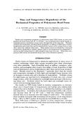 Time and temperature dependence of the mechanical properties of polystyrene bead foam.