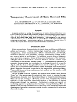 Transparency measurement of plastic sheet and film.