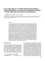 Viscoelastic behavior of flexible slabstock polyurethane foams  Dependence on temperature and relative humidity. I. Tensile and compression stress (load) relaxation