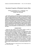 Viscoelastic properties of plasticized amylose films.