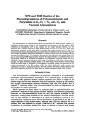 XPS and ESR studies of the photodegradation of polyamidoimide and polyimide in O2  O2 + N2  air  N2  and vacuum atmospheres.