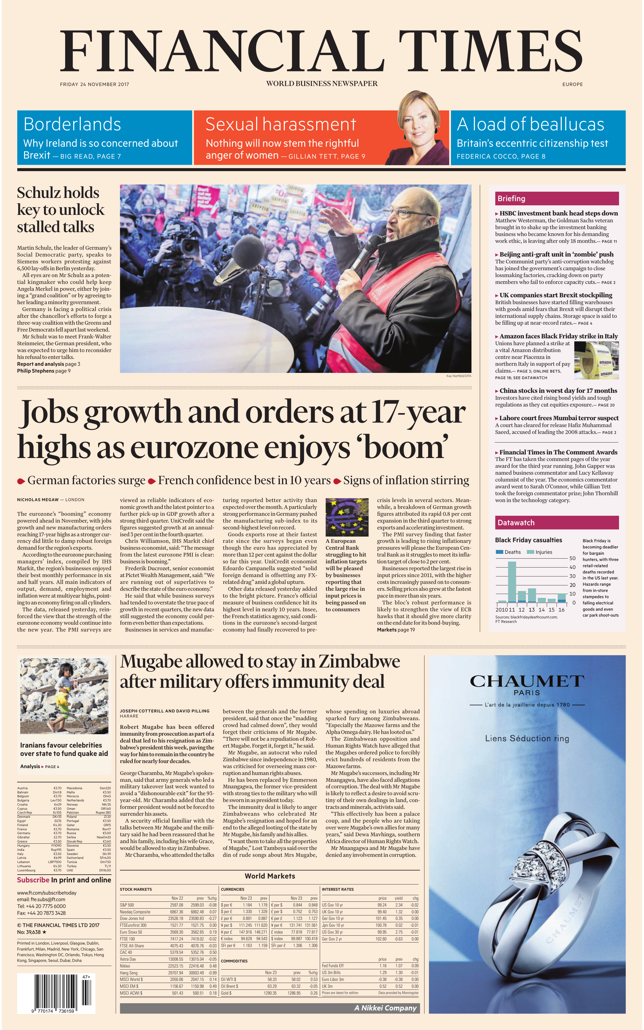 info for 9f957 726a2 Financial Times Europe – 24 November 2017