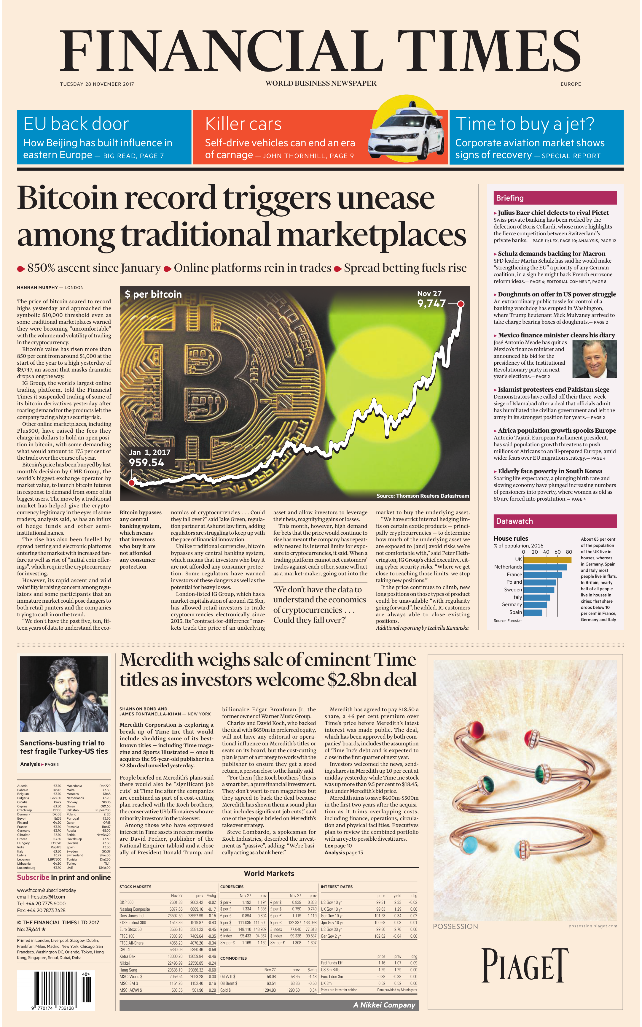 newest 423b1 9ad57 Financial Times Europe – 28 November 2017