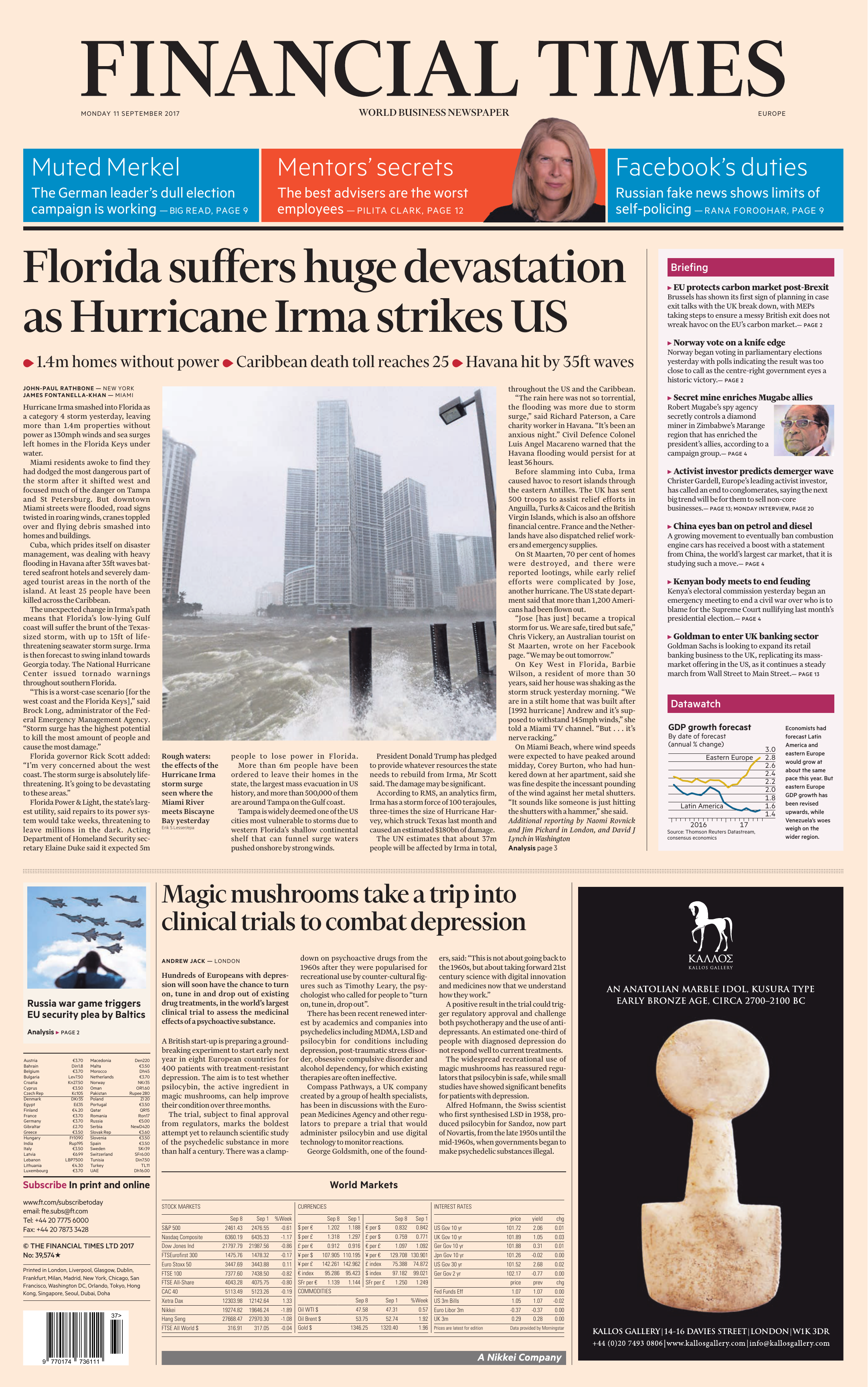 Financial Times Europe 11 September 2017