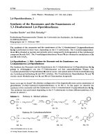 26-Piperidinediones I. Synthesis of the Racemates and the Enantiomers of 33-Disubstituted 26-Piperidinediones