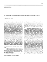 A possible role of prolactin in adjuvant arthritis.