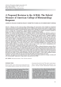 A proposed revision to the ACR20The hybrid measure of American College of Rheumatology response.