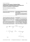 A Simple One-Step Synthesis of Substituted Methyl 2-Benzoylamino-3-arylaminopropenoates Intermediates in the Preparation of Substituted Arylaminoalanines.