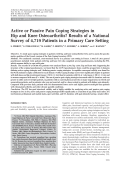 Active or passive pain coping strategies in hip and knee osteoarthritis results of a national survey of 4719 patients in a primary care setting.