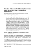 Activities of enzymes that detoxify superoxide anion and related toxic oxyradicals in Trichoplusia ni.