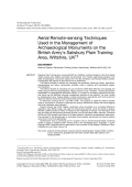Aerial remote-sensing techniques used in the management of archaeological monuments on the British Army's Salisbury Plain Training Area Wiltshire UK.