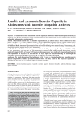 Aerobic and anaerobic exercise capacity in adolescents with juvenile idiopathic arthritis.