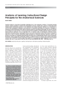 Anatomy of learningInstructional design principles for the anatomical sciences.