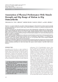 Association of physical performance with muscle strength and hip range of motion in hip osteoarthritis.