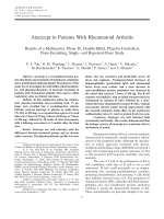 Atacicept in patients with rheumatoid arthritisResults of a multicenter phase ib double-blind placebo-controlled dose-escalating single- and repeated-dose study.