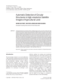Automatic detection of circular structures in high-resolution satellite images of agricultural land.