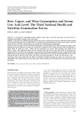 Beer liquor and wine consumption and serum uric acid levelThe Third National Health and Nutrition Examination Survey.