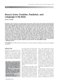 Broca's arrowEvolution prediction and language in the brain.