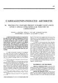 Carrageenin-induced arthritis. III. Proteolytic enzymes present in rabbit knee joints after a single intraarticular injection of carrageenin