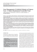 Case management of arthritis patients in primary careA cluster-randomized controlled trial.