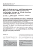 Clinical effectiveness of a rehabilitation program integrating exercise self-management and active coping strategies for chronic knee painA cluster randomized trial.