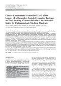 Cluster randomized controlled trial of the impact of a computer-assisted learning package on the learning of musculoskeletal examination skills by undergraduate medical students.