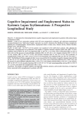 Cognitive impairment and employment status in systemic lupus erythematosusA prospective longitudinal study.