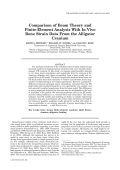 Comparison of beam theory and finite-element analysis with in vivo bone strain data from the alligator cranium.