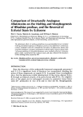 Comparison of structurally analogous allatotoxins on the molting and morphogenesis of Rhodnius prolixus  and the reversal of ecdysial stasis by ecdysone.