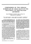 Comparison of Two Dosage Schedules of Gold Salts in the Treatment of Rheumatoid Arthritis.