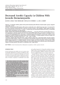 Decreased aerobic capacity in children with juvenile dermatomyositis.