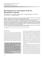 Development of a foot impact scale for rheumatoid arthritis.