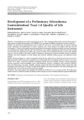 Development of a preliminary scleroderma gastrointestinal tract 1.0 quality of life instrument