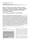 Effects of supervised cardiovascular training program on exercise tolerance aerobic capacity and quality of life in patients with systemic lupus erythematosus.