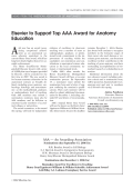 Elsevier to support top AAA award for anatomy education.