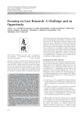 Focusing on care researchA challenge and an opportunity.