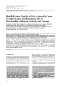Health-related quality of life in juvenile-onset systemic lupus erythematosus and its relationship to disease activity and damage.
