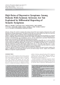 High rates of depressive symptoms among patients with systemic sclerosis are not explained by differential reporting of somatic symptoms.
