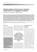 Infective agents in fixed human cadaversA brief review and suggested guidelines.