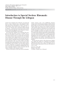 Introduction to special sectionRheumatic disease through the lifespan.