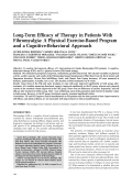 Long-term efficacy of therapy in patients with fibromyalgiaA physical exercise-based program and a cognitive-behavioral approach.