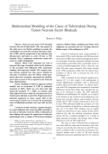 Mathematical modeling of the cause of tuberculosis during tumor necrosis factor blockade.