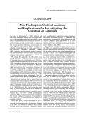 New findings on cortical anatomy and implications for investigating the evolution of language.