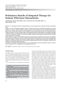 Preliminary results of integrated therapy for patients with knee osteoarthritis.