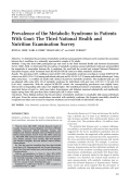 Prevalence of the metabolic syndrome in patients with goutThe Third National Health and Nutrition Examination Survey.
