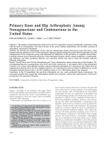 Primary knee and hip arthroplasty among nonagenarians and centenarians in the United States.